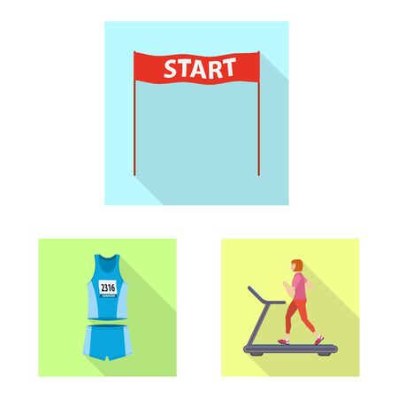 Isolated object of sport and winner sign. Collection of sport and fitness vector icon for stock. Иллюстрация