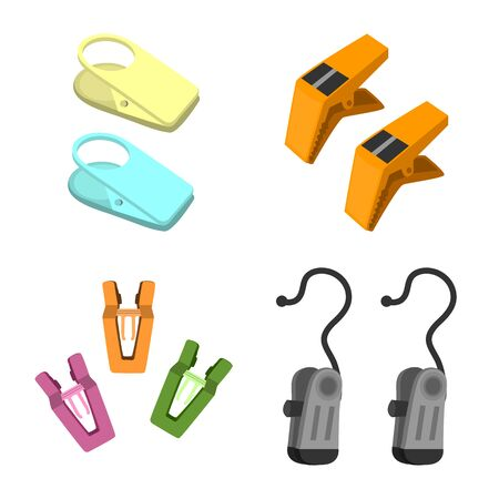 Isolated object of tool and hold logo. Set of tool and household vector icon for stock.