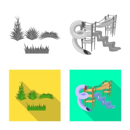 Vector illustration of urban and street icon. Collection of urban and relaxation vector icon for stock. Stock Illustratie