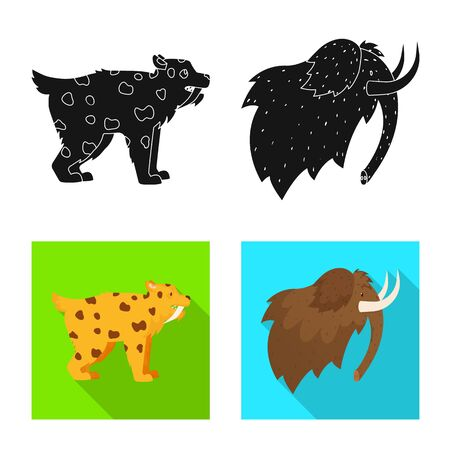 Isolated object of evolution and neolithic symbol. Collection of evolution and primeval stock vector illustration. Illustration