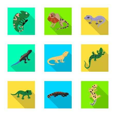 Vector design of tail and fauna logo. Set of tail and environment stock vector illustration.