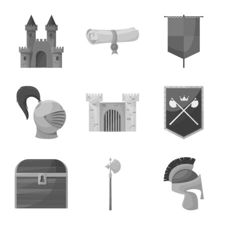 Vector design of heritage and ancient icon. Collection of heritage and culture stock symbol for web.