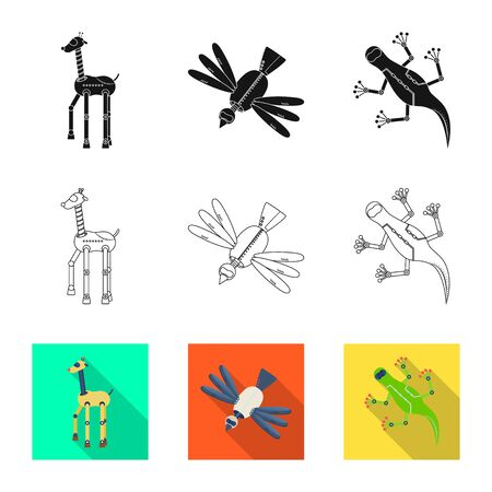 Vector illustration of toy and science symbol. Set of toy and toy vector icon for stock.
