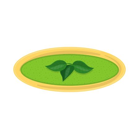 Isolated object of broccoli and soup icon. Collection of broccoli and cream vector icon for stock. Ilustração