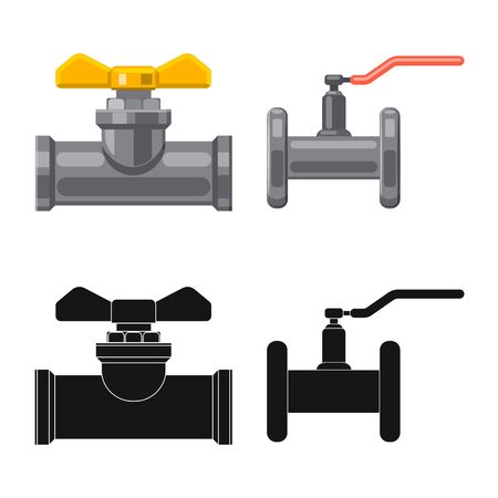 Vector design of pipe and tube icon. Set of pipe and pipeline vector icon for stock. 向量圖像