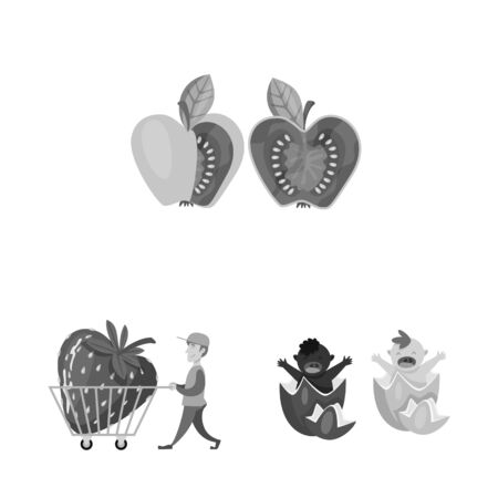 Vector illustration of transgenic and organic symbol. Collection of transgenic and synthetic vector icon for stock. Illustration