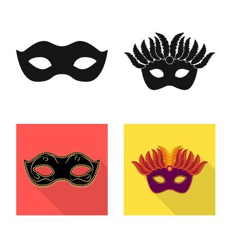 Vector design of luxury and celebration logo. Collection of luxury and hide vector icon for stock.