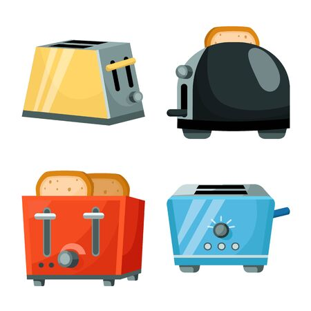 Vector illustration of machine and cooking icon. Collection of machine and household stock vector illustration.