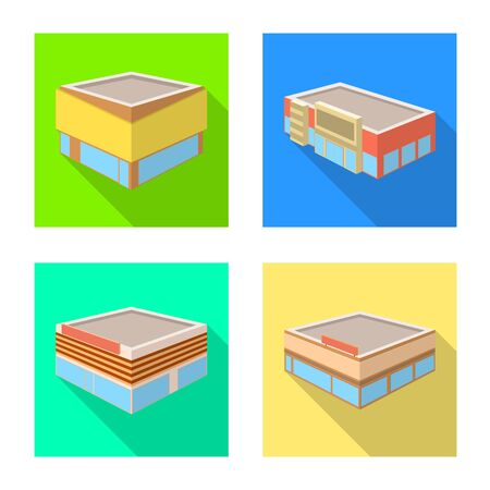Vector illustration of and urban icon. Collection of and house stock symbol for web. Illustration