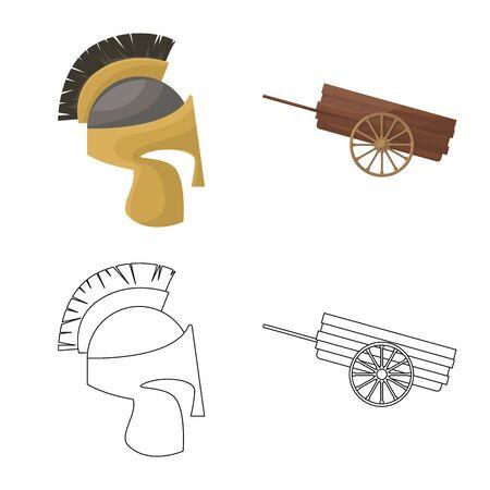 Vector illustration of old and culture logo. Set of old and renaissance stock vector illustration. Illusztráció