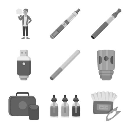 Isolated object of equipment and pipe symbol. Collection of equipment and taste stock symbol for web.