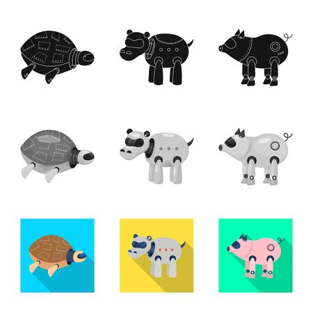 Vector illustration of toy and science icon. Collection of toy and toy vector icon for stock.