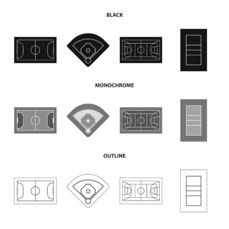 Isolated object of scheme and construction sign. Set of scheme and bullring vector icon for stock. Stock Illustratie