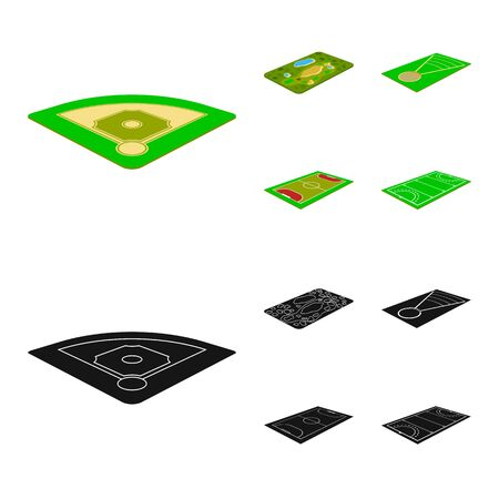 Vector illustration of playground and sport icon. Set of playground and scene stock symbol for web.