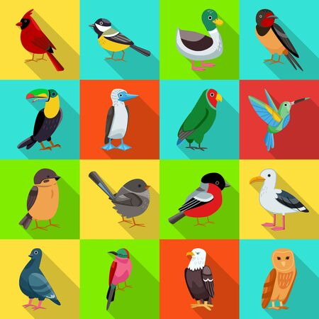 Isolated object of animal and wild logo. Collection of animal and natural vector icon for stock. Stock Illustratie