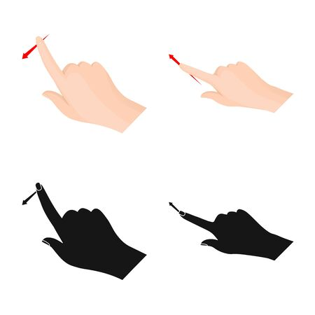 Vector design of touchscreen and hand symbol. Collection of touchscreen and touch stock vector illustration. 일러스트
