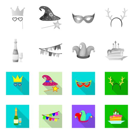 Vector design of party and birthday sign. Collection of party and celebration vector icon for stock. Stock Illustratie