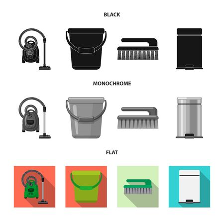 Vector design of cleaning and service symbol. Set of cleaning and household stock vector illustration.