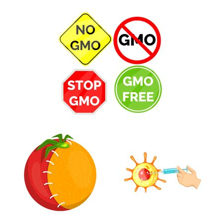 Vector design of modified and genetically icon. Set of modified and science vector icon for stock. Illustration