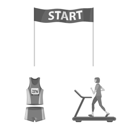 Isolated object of success and marathon symbol. Collection of success and winner vector icon for stock.  イラスト・ベクター素材