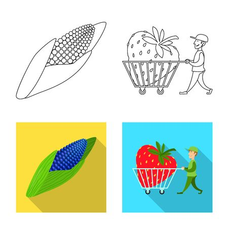 Vector illustration of test and synthetic icon. Collection of test and laboratory stock symbol for web.