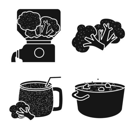 Vector illustration of eating and diet logo. Set of eating and farm stock vector illustration.