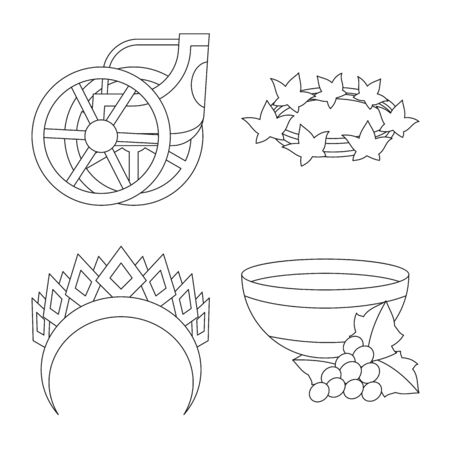 Vector illustration of mythology and god icon. Set of mythology and culture vector icon for stock. Фото со стока - 130643731