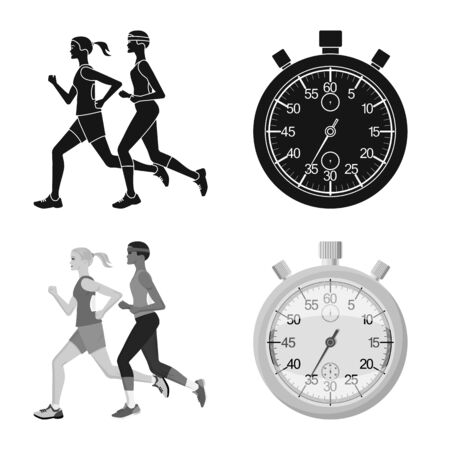 Vector design of sport and winner icon. Collection of sport and fitness stock vector illustration.