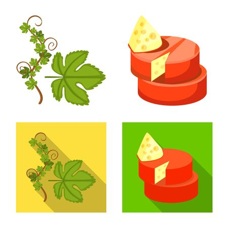 Isolated object of farm and vineyard icon. Collection of farm and product stock symbol for web.