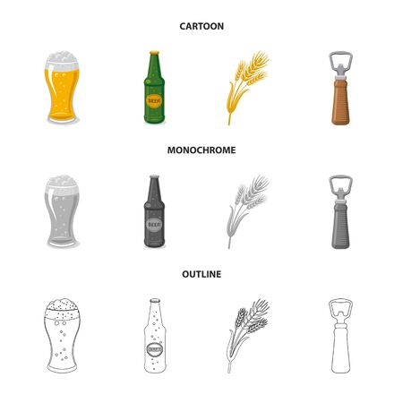 Vector design of pub and bar symbol. Collection of pub and interior stock symbol for web.