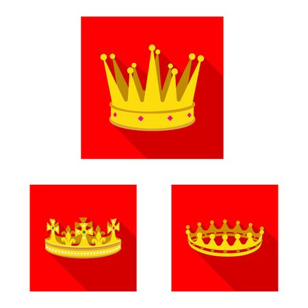 Vector design of medieval and nobility logo. Set of medieval and monarchy stock symbol for web.