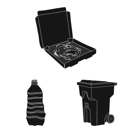 Vector design of refuse and junk icon. Set of refuse and waste stock vector illustration. Stok Fotoğraf - 130759459