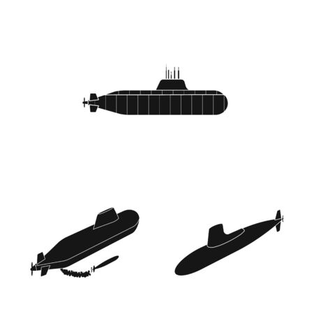 Vector design of technology and fleet symbol. Set of technology and navy vector icon for stock.