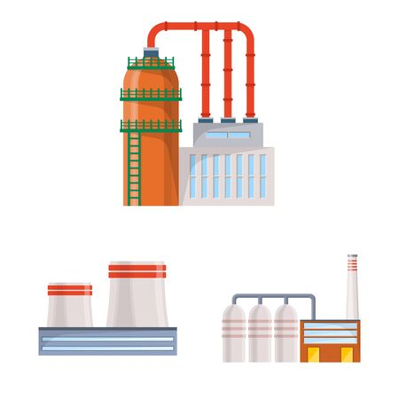Vector design of industry and building symbol. Collection of industry and construction vector icon for stock. Ilustrace