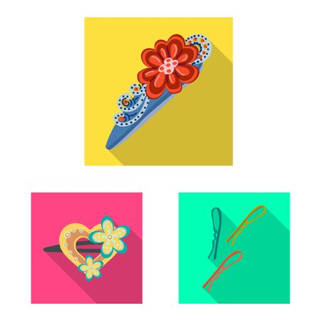 Vector illustration of beauty and fashion sign. Set of beauty and female stock symbol for web.
