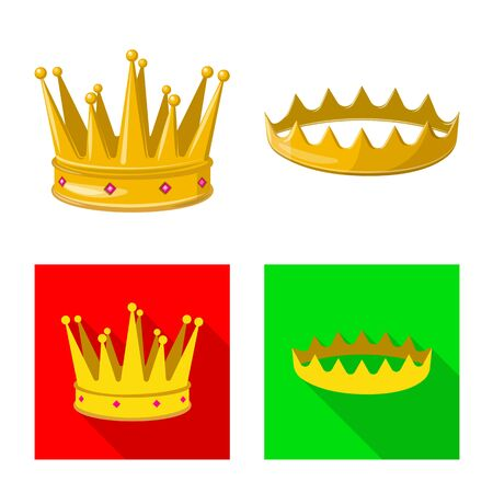 Isolated object of medieval and nobility symbol. Collection of medieval and monarchy stock vector illustration. Stock Illustratie