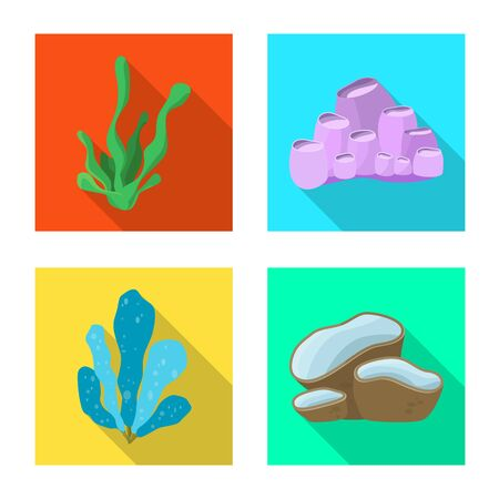 Vector illustration of biodiversity and nature symbol. Collection of biodiversity and wildlife stock vector illustration. Illustration