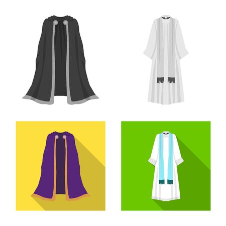 Vector design of material and clothing logo. Collection of material and garment stock vector illustration. Ilustrace