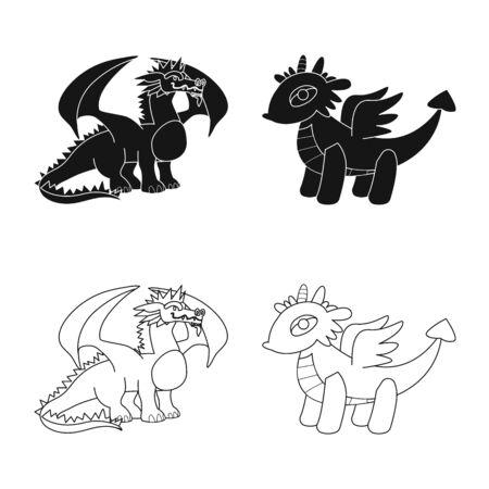 Vector illustration of legend and halloween symbol. Set of legend and history stock symbol for web. Иллюстрация