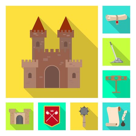 Vector illustration of old and culture icon. Collection of old and renaissance stock symbol for web.