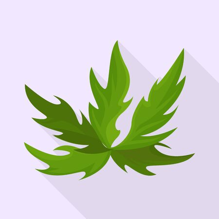 Vector design of bush and green symbol. Set of bush and plant stock symbol for web.