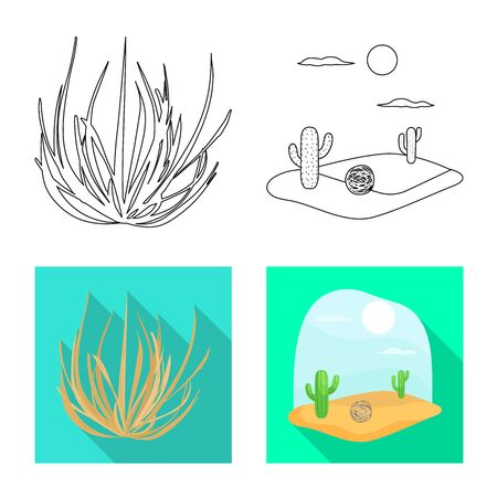 Vector illustration of landscape and nature logo. Set of landscape and environment stock symbol for web.
