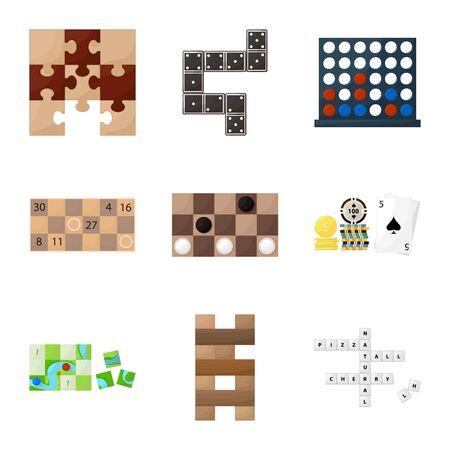Vector design of gambling and concept symbol. Collection of gambling and jackpot stock symbol for web.