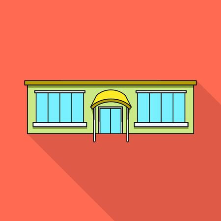 Isolated object of shop and exterior logo. Set of shop and town stock symbol for web.