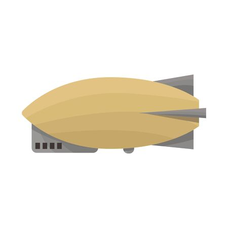 Isolated object of airship and dirigible icon. Web element of airship and balloon vector icon for stock. Ilustracja
