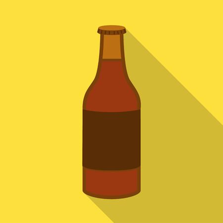 Vector illustration of bottle and glass sign. Collection of bottle and cold vector icon for stock.