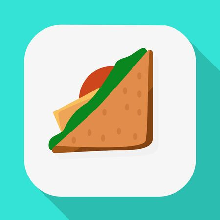 Vector illustration of package and food icon. Set of package and snack stock symbol for web.