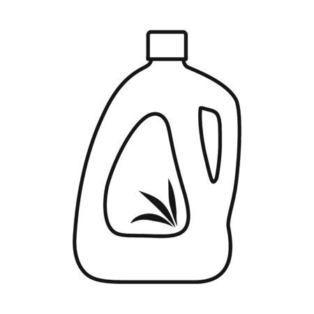Vector illustration of bottle and plastic sign. Web element of bottle and beverage stock vector illustration.