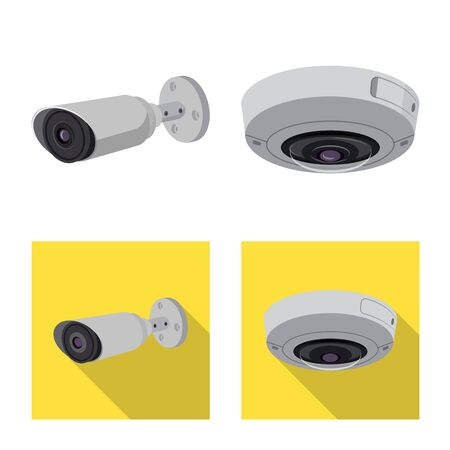 Vector design of cctv and camera icon. Set of cctv and system stock symbol for web. Illusztráció