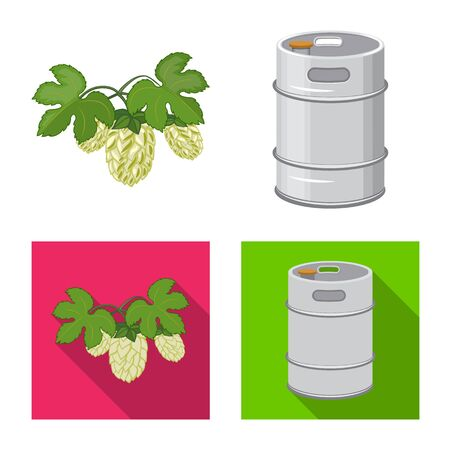 Vector design of pub and bar icon. Set of pub and interior vector icon for stock.